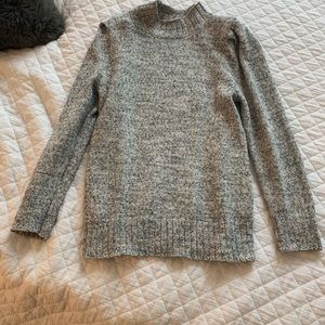 Ann Taylor Puff Sleeve gray sweater